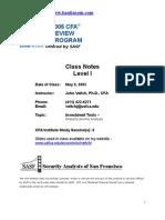 CFA Level I SS6 2005 - tài liệu luyện ôn thi chứng chỉ CFA