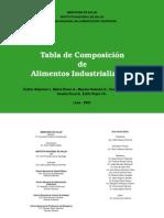 Tabla de composición de alimentos industrializados