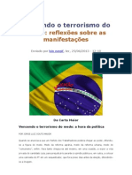 Vencendo o Terrorismo do Medo