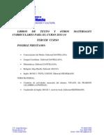 Libros 3º (2013-14)