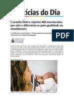 Reportagem Maternidade Carmela Dutra - Jornal Noticias Do Dia 26.Maio.2013