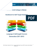 Handbook for Self Taught Students 2011-2013