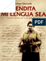 Bendita Mi Lengua Sea Diario Intimo Gabriela Mistral, Jaime Quezada