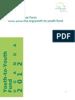 Uganda Youth to Youth Fund Short Proposal Form 2012