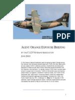 Agent Orange Exposure Briefing