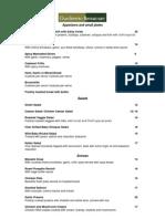 menu  a la carte resume