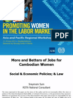 Session 3. SUM_More and Better Jobs for Cambodian Women
