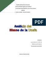 Analisis Himno de La Unefa