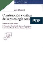 Construcción y crítica de la psicología social Escrito por Maritza Montero