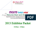 2013 Natural Hair and Beauty Expo Exhibitor Packet