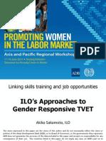 Session 7. AKIKO SAKAMOTO_ILO's Approaches to Gender Responsive TVET