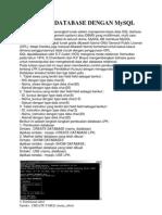 Contoh Database Dengan Mysql