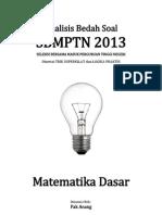 Analisis Bedah Soal SBMPTN 2013 Matematika Dasar