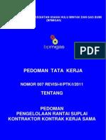 PTK Pengelolaan Rantai Suplai KKKS Buku I Buku II Revisi II Th 2011