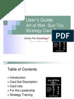 Art of War Sun Tzu Strategy Card Deck User's Guide