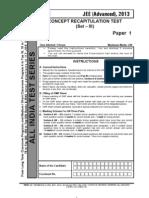 Concept Recapitulation Test III Advanced PAPER-1 Question Question