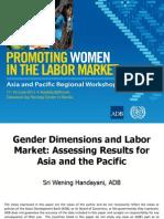 Session 10. SRI HANDAYANI_Gender Dimensions and Labor Market