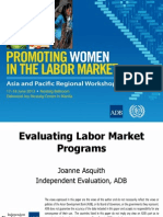Session 10. ASQUITH_Evaluating Labor Market Programs