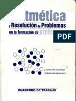 ARITMÉTICA Y RESOLUCIÓN DE PROBLEMAS EN LA FORMACIÓN DE PROFESORES