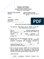 Legal Forms - Application for Search Warrant, Cert., Joint Affidavit