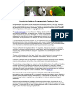 Penrith Vet Guide to Pre-anaesthetic Testing in Pets