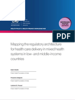 Mapping the regulatory architecture for health care delivery in mixed health systems in low- and middle-income countries
