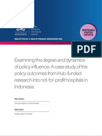Examining the degree and dynamics of policy influence