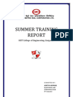 Aditya-summer Training Report delhi metro