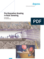 Pre-Excavation Grouting in Rock Tunelling