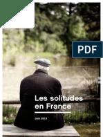 Etude Les Solitudes en France - Juin 2013