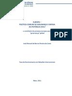 A PCSD e a Europa Potência Civil