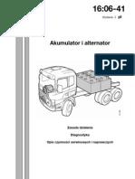 WSM_16-06-41 Alternator i akumulator, Opis działania i czynności serwisowych i naprawczych