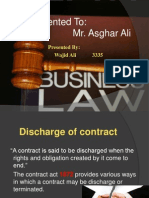 Discharge of contract, Breach and Remedies