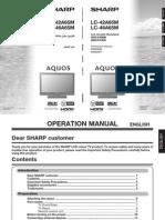 Sharp LC42-46A65M Operation Manual