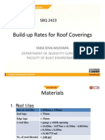 Built Up Rate - Roof Covering