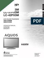 Sharp AQUOS LC32-37-42PX5M Operation Manual