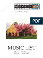 Music list, July-Oct. 2013