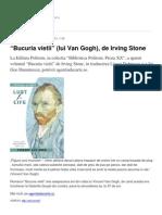 Bucuria Vietii Lui Van Gogh de Irving Stone