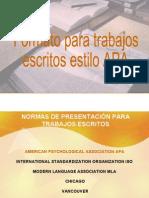 Normas APA American Psychological Association en Formato Presentacion Con Adobe