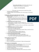 Entrepreneurship Chapter 8 - The Marketing Plan