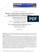 Obesity, Energy Intake and Physical Activity in Rural and Urban New Zealand...