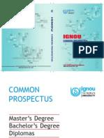 IGNOU Prospectus 2013-14