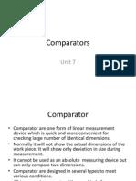 Metrology Comparators Unit 7