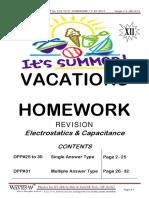 DPP#25 to 31 Electrostatics 7 Capacitance 15.06.2013 HOMEWORK
