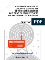 """'Programme Changes At London's """"Capital FM"""" Attract Younger Audience But Send Older Listeners To """"BBC Radio 1"""" For Refuge' by Grant Goddard"""