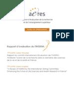 Rapport Zerhouni d'évaluation de l'Inserm - nov. 2008