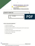 Quantity Survey n4 -3rd Trimester 2012