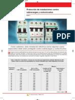 Proteccion de Instalaciones Contra Sobrecargas y Cortocircuitos