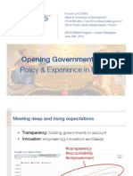 Opening Goverment Data