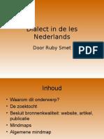 Dialect in de les Nederlands
